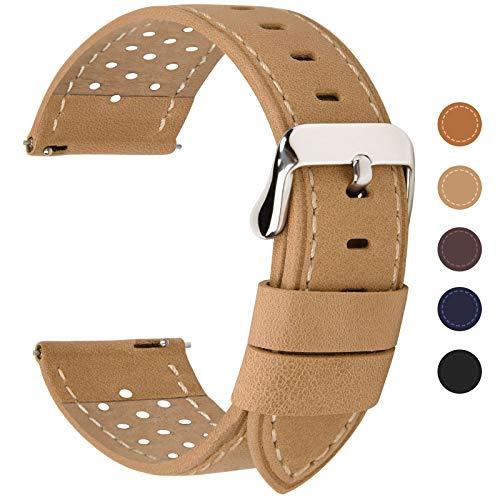 Fullmosa 5 Colori per Cinturino di Ricambio, Breeze Cinturino in Pelle per Orologio da Donna e...