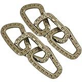 COM FOUR® 6x EDC Moschettone a forma di D in plastica ad alta resistenza in kaki (06 pezzi   kaki)