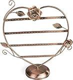 Espositore bijoux forma di cuore   Color Rame 35 x 32 x 12 cm   Organizer per la presentazione di gioielli   Grinscard