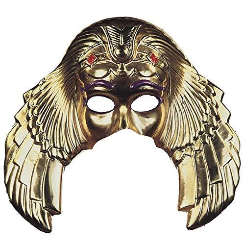 Máscara dorada de reina egipcia
