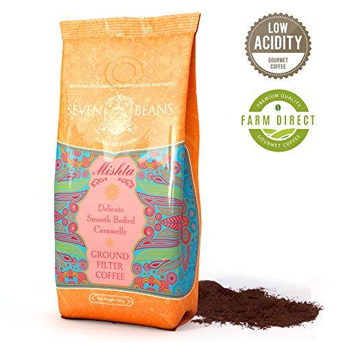"Seven Beans Coffee Company's ""Mishta"" Medium Roast, Single Origin, Monsooned Malabar, Gourmet Indian Coffee 4"