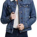 Jeansjacke Stickerei