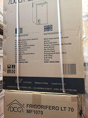 DCG Eltronic MF1070 Portatile Nero, Acciaio inossidabile frigorifero