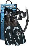 Cressi Pluma Pack de Snorkel, Unisex, Negro/Gris, 43/44