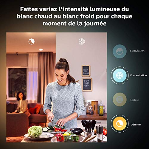 51u6vmL7SsL Bon Philips Hue !  Philips Hue Ampoules LED Connectées White & Color Ambiance B22 Compatible Bluetooth, Fonctionne avec Alexa Pack de ...