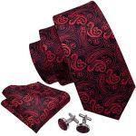 Set di Gemelli cravatta e fazzoletto a fiori Barry W