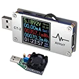 AVHzY USB Power Meter Tester Digital Multimeter USB Load Current Tester Voltage Detector DC 6A 26V Test Speed of Charger, Cables, Capacity of Power Bank, PD 2.0/3.0 QC 2.0/3.0/4.0 or pps Trigger