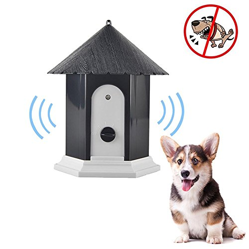 AUOKER Anti Barking Device, Durable Waterproof Ultrasonic Dog Bark Control Devices, Bark Deterrent for Indoor and Outdoor Use, Safe for Dogs and Humans, Effective Range Up to 50 Feet