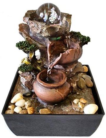 Fuente Zen para interiores Jarras / Esfera de cristal 4