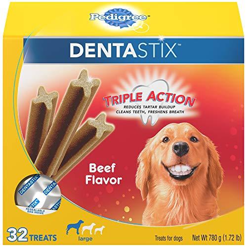 Beef, 32 Treats, Standard Packaging : PEDIGREE Dentastix Large Dog Treats