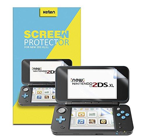 Nintendo NEW 2DS XL Pellicola Protettiva [Pacco da 6], Keten Pellicola Protettiva Copertura Totale Alta Definizione per Nintendo 2DS XL 2017 Anti graffio, Sottile, Sensibilità al Tocco, non per 3DS
