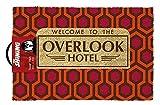 The Shining Overlook hotel con licenza ufficiale zerbino, fibra di cocco, rosso, 60x 40x 1.5cm