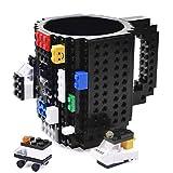 KYONNE Build on Brick Mug, Tasse Cadeaux pour Homme, Garçon ou Papa, Idée Cadeau de Noël, Fête des Pères Cadeau (Noir)