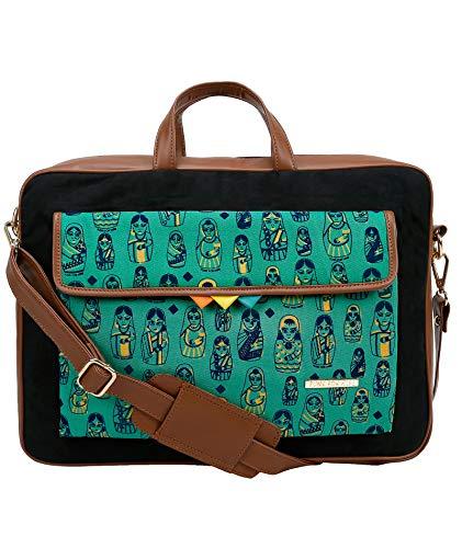 """Funk For Hire Canvas 17"""" Blue Laptop Messenger & Shoulder Bag"""
