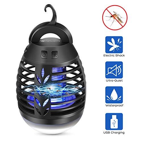 Lampada Anti-zanzara Lanterna Campeggio Lampada da Tenda Killer Elettronica Trappola Per Mosche...