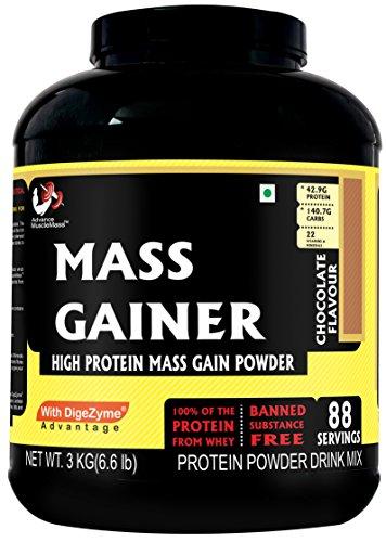 Advance Musclemass Mass Gainer Supplement Powder (Chocolate, 3 Kg/6.6 Lb 88 Servings)