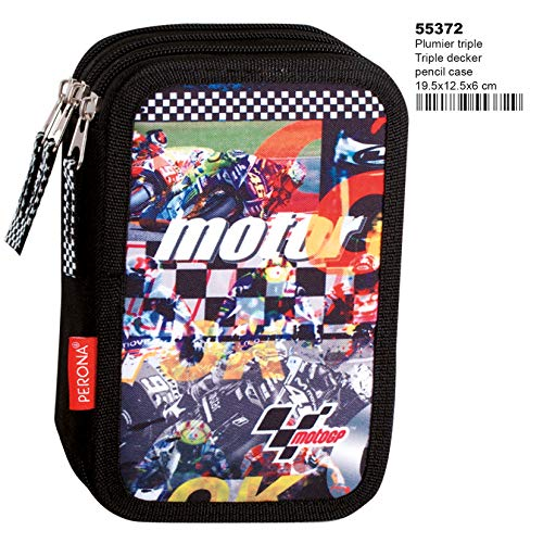 Montichelvo Montichelvo Triple Pencil Case Mt Gp Clinch Astuccio, 20 cm, Multicolore (Multicolour)