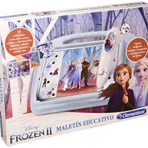 Clementoni-55329 - Maletin Educativo Frozen 2 - juego educativo a partir de 3 años
