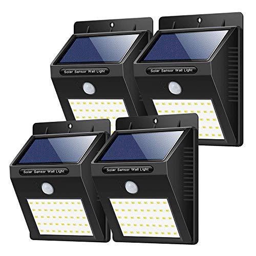 Yacikos  Luce Solare da Esterno, 40 LED  [4 Pezzi]  Lampada Solare con Sensore di Movimento Luci...