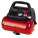 Einhell TH-AC 190/6 OF - Compresor de aire, 8 bar, depósito 6 l, aspiración 185 l /min, 1100 W,...
