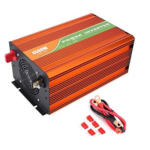 Inversor de energía solar, convertidor de voltaje de CC, inversor de corriente de alta frecuencia de seno puro 4500W Inversor de energía solar Voltaje de salida del inversor de CA de CC 110V(48V)
