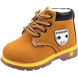 Manadlian-Chaussures bébé Enfants Chaussures, d'hiver Doux et Chaud Semelle Antidérapante Bottes de Neige à Lacets en Velours Garçon Filles Martin Bottes