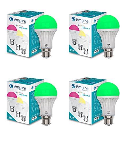 SWARA B22 12W Color LED Bulb - Pack of 4 (Green)