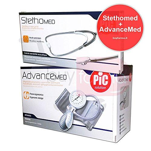 PIC SOLUTION - OFFERTA ADVANCEMED + STETHOMED - Misuratore di Pressione Manuale + Stetoscopio