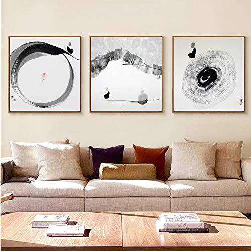 Carta da parati Carta da parati murale Pittura di sfondo divano nuova pittura decorativa cinese Pittura a inchiostro zen Divano in stile cinese@4_50 * 50cm