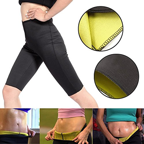Pantalone pants snellente per donna in noprende, pantaloncino per palestra fitness corsa dimagrante...