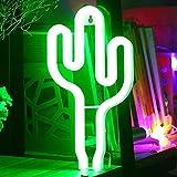 Lampara de Cactus con Luz de Neón para Decorar Interiores