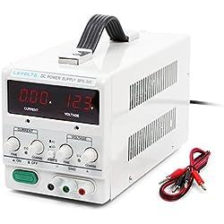 Lavolta 30V 5A Fuente de Alimentación DC para Laboratorio Regulable Digital Ajustable 0-30V / 0-5A