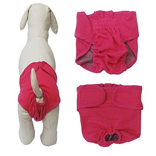 Yakef cane gatto pannolini in cotone Underwears pantaloni lavabile e riutilizzabile per sanitari mutandine con velcro per femmina Dogs