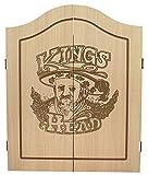 Best Sporting Dart-Kabinett Kings Head wahlweise mit Dartscheibe, Dart-Schrank in Holz-Optik (Kabinett)