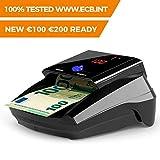 Detectalia D7 Détecteur de faux billets avec 7 systèmes de détection et une fiabilité de 100 % dans les tests officiels de la BCE. N'a pas besoin de mises à jour pour la devise EURO