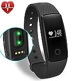 Willful Fitness Tracker Pulsera Inteligente Monitor de Pulso Cardiaco Bluetooth Pulsera Inteligente...