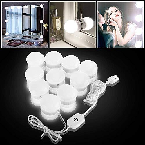 Specchio cosmetico kit di luci, Hollywood Style LED luci con 10 lampadine dimmerabili per trucco da...
