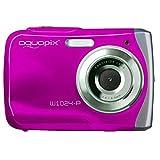 Easypix W1024  Macchina fotografica di azione, 10MP (Full HD, 30 fps, AVI, LCD, 6.1 cm (2.4'),  98g, CMOS), rosa