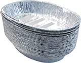 Party & Paper Solutions 50 x EXTRA-LARGE OVAL ROASTING DISH -48cm x 34cm disposable foil catering tray
