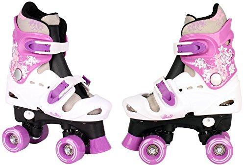 Selltex Kinder Rollschuhe Verstellbar 28 29 30 31 32 33 34 35 36 Neu Disco Roller (Lila, 27-31)