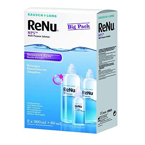 Bausch & Lomb ReNu MPS Pflegemittel für weiche Kontaktlinsen, Bigbox 2x 360 ml + 60ml