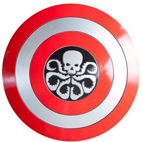 QWEASZER Marvel Avengers 1: 1 Capitán América Escudo Metal Textura ABS Escudo Capitán América Disfraz ABS Escudo Adulto…