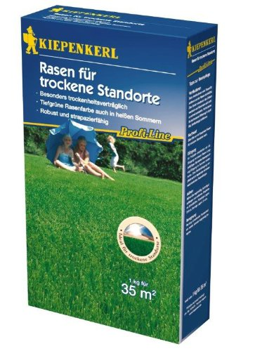 Kiepenkerl Profi Line Rasen trockene Standorte 1kg Rasensaat für Grünflächen