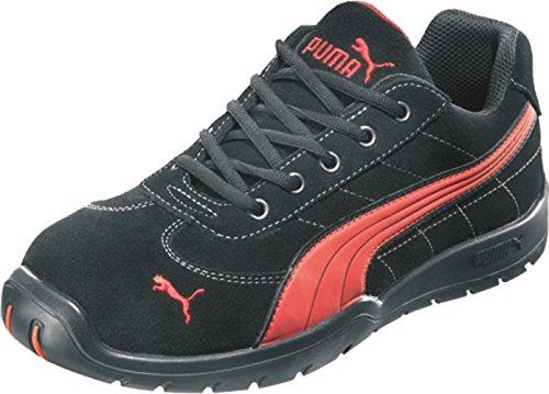 Puma Safety Shoes Silverstone Low S1P HRO SRC, Puma 642630-210-44 Herren Sicherheitsschuhe, Schwarz (schwarz/rot 210), EU 44