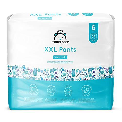Marchio Amazon - Mama Bear Pannolini a mutandina XXL - Taglia 6 (18-30kg), 2 confezioni da 36 pezzi
