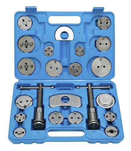 FreeTec Set di ripristino pistone del freno per spostare indietro il pistone dei freni a disco, ganasce dei freni o per il cambio delle pastiglie, 22 pezzi