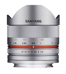 Samyang SA3104 - Objetivo fotográfico CSC-mirrorless 8mm F2.8 II UMC ojo de pez para FUJI X, plata