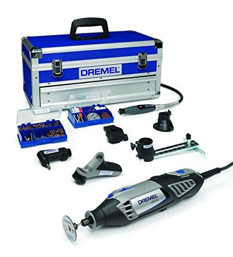 Dremel Multifunktionswerkzeug 4000-6/128 EZ (65tlg. Zubehör Set, Biegsame Welle, Kreis- und Parallelschneider, Werkzeugkoffer, 175 Watt)