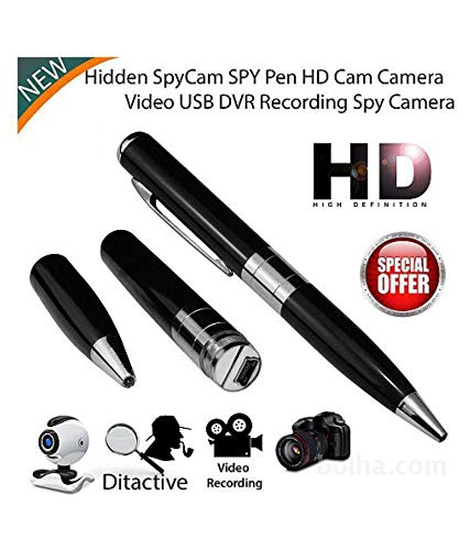 Greeneye Technology Silver & Black Spy Video Camera Pen Spy