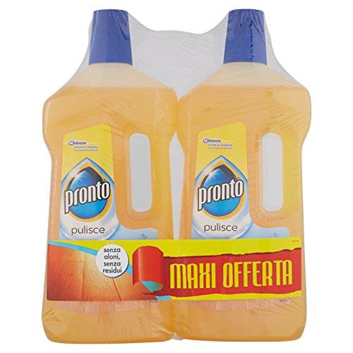 Pronto Detergente Liquido per Superfici in Legno Lucido - Confezione Risparmio - 2 pezzi x 750 ml
